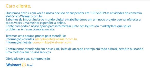 Fim do Walmart.com.br